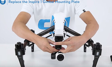 DJI - Mounting the Zenmuse X5 to the Inspire 1