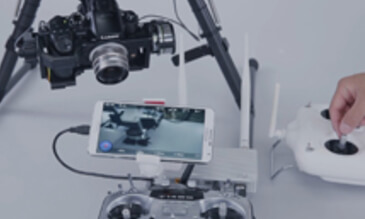 Connecting the DJI Lightbridge and Non-HD Gimbal HD Signal Output