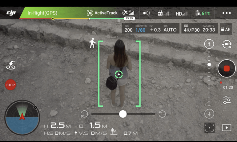 DJI-Mavic Pro Standout Features: ActiveTrack Modes