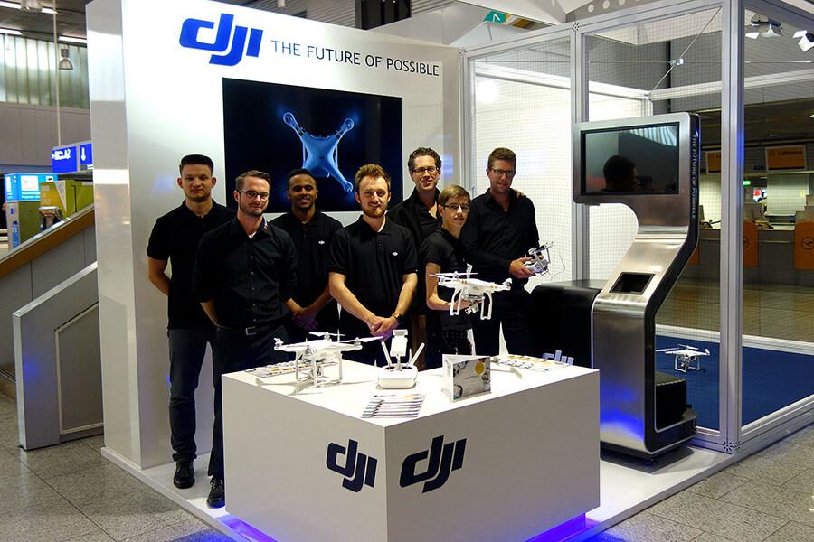 Dji Airport Booth At Frankfurt International Everybody