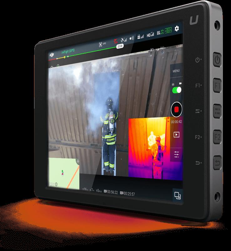 DJI FLIR Zenmuse XT2 Applications By Vertical Tablet View